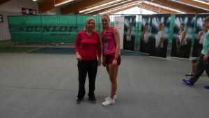 Bei den Deutschen Meisterschaften 2015, rechts von mir Carina Witthöft